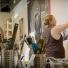 "Rebecca Campbell at work | Still from KCET Artbound's ""Artist and Mother"" Mother AB s9"