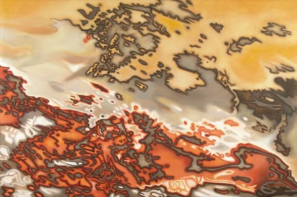 "Danielle Eubank, ""Mozambique VI,"" Oil on linen canvas, 24x36 inches, 2010"