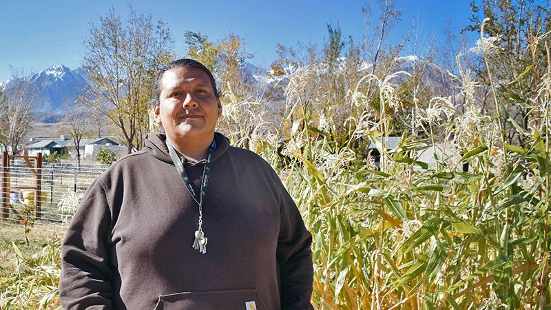 Paiute garden expert Joseph Miller in Big Pine