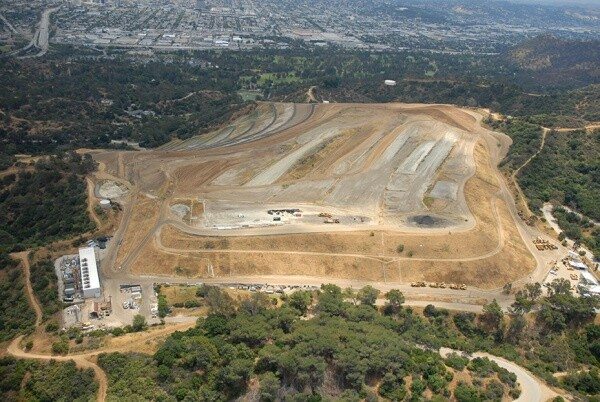 Aerial view of Toyon Canyon in Griffith Park | The Center for Land Use Interpretation (CC BY-NC-SA 3.0)