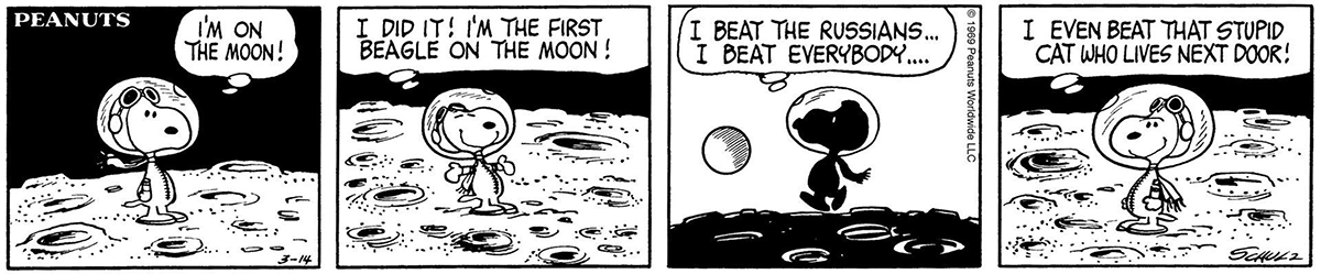 Snoopy space comic | Courtesy of Peanuts Worldwide