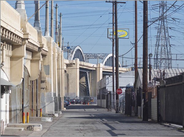 The street alongside the bridge demonstrated why it has an appeal to filmmakers looking for grace and grit in one shot I Photo by Ed Fuentes
