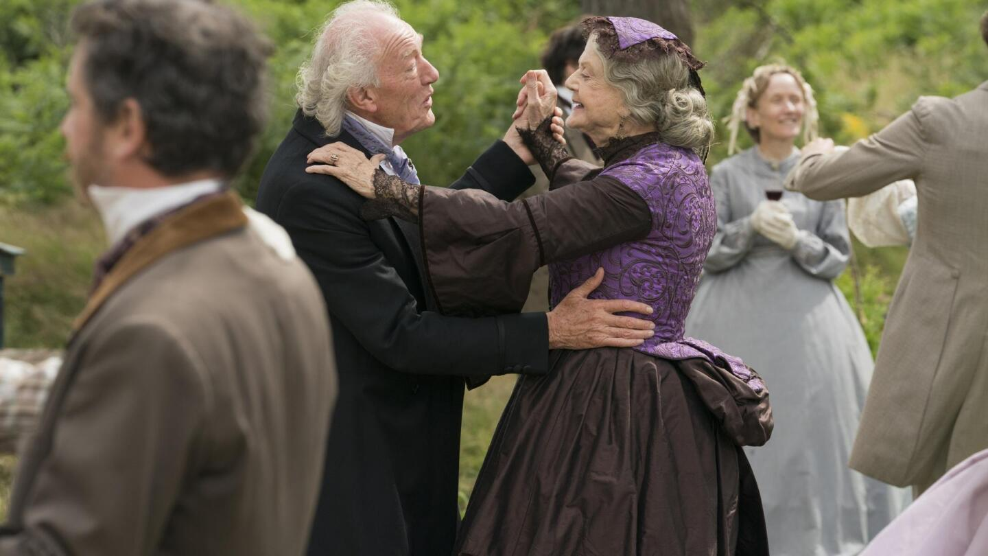 "An elderly couple dance together. | Still from ""Little Women On Masterpiece"""