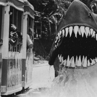 """Bruce the Great Whitemakes an appearance for tour guests for the """"Jaws""""stop