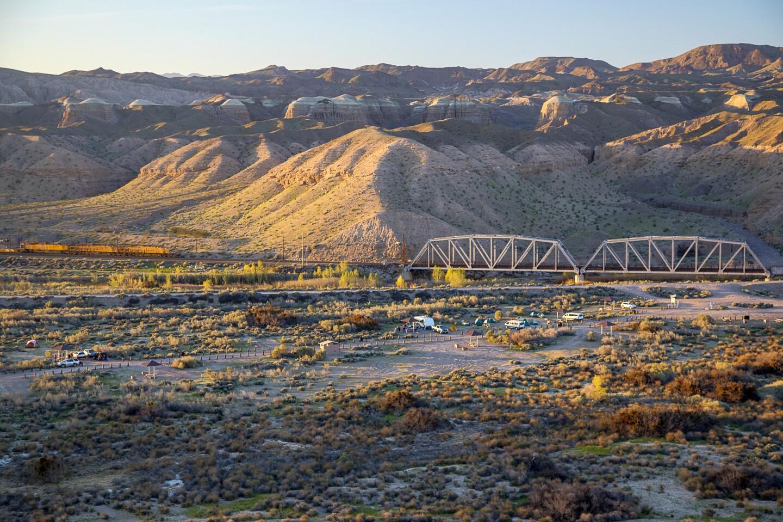 Hilled Landscape in Mojave Desert