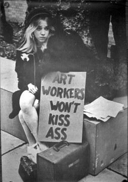 Art Workers Coalition, Art Workers Won't Kiss Ass, 1969.