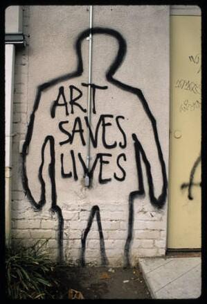 Art saves lives, Hollywood, 1993 I Photo: Robin J. Dunitz, Robin, Courtesy of University of Southern California Libraries