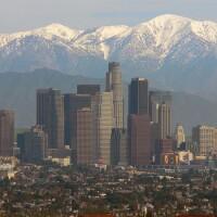 San Gabriel Mountains and Los Angeles Sky Line   Photo by USFS Region 5