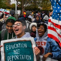 Demonstrators gather in front of the United States Supreme Court, where the Court is hearing arguments on Deferred Action for Childhood Arrivals - DACA.   Jahi Chikwendiu/The Washington Post via Getty Images