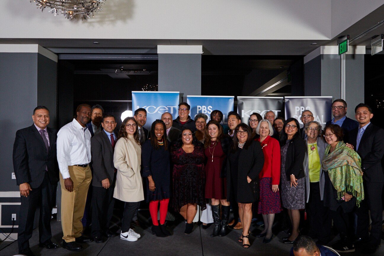 Local Heroes Honorees and the KCET & PBS SoCal Community Advisory Board at the Holiday Community Celebration Dinner in Downtown LA on Dec. 10, 2019.
