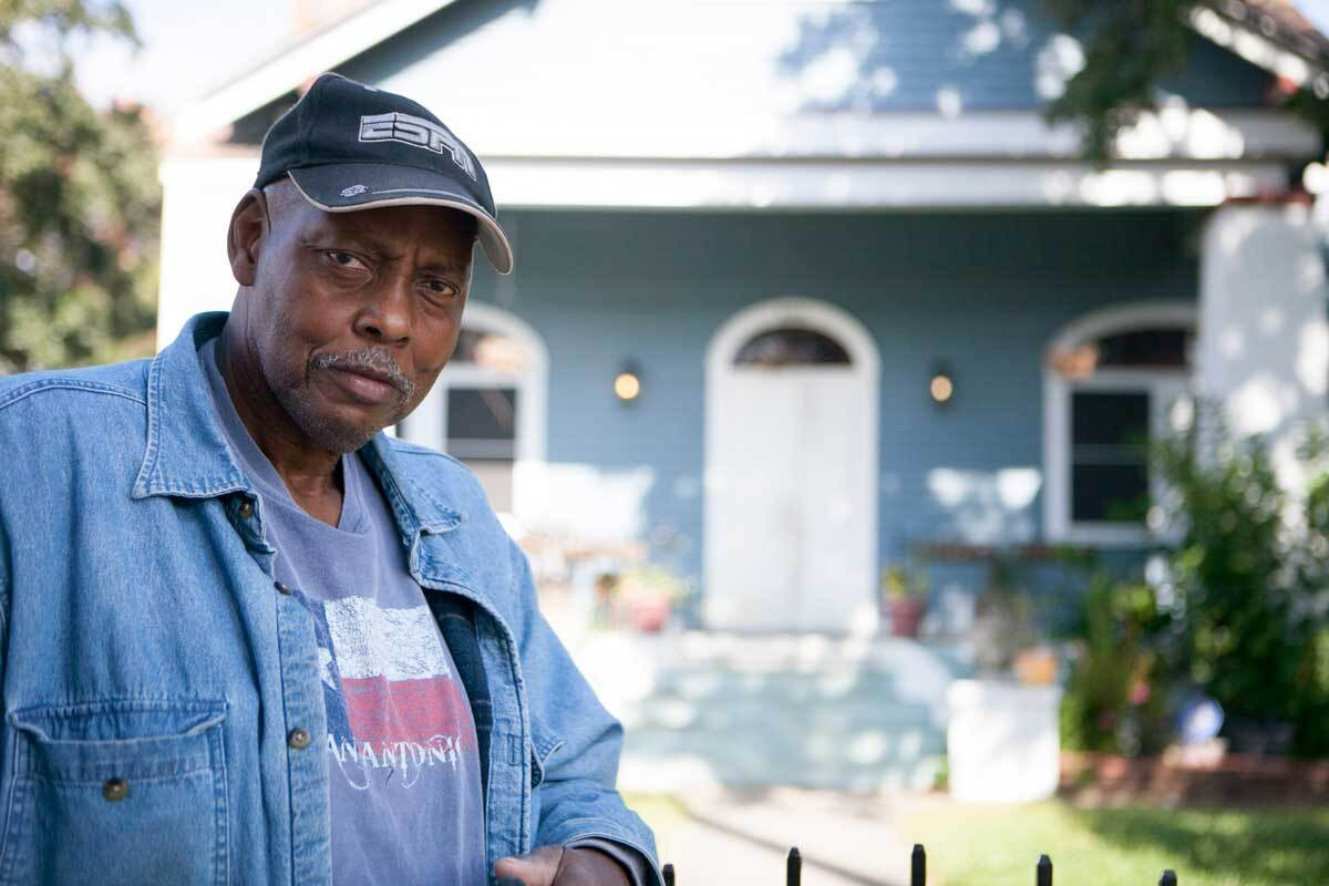 William Walters, a New Orleans resident photographed outside of his 9th Ward home.  | Nicky Milne/Thomson Reuters Foundation