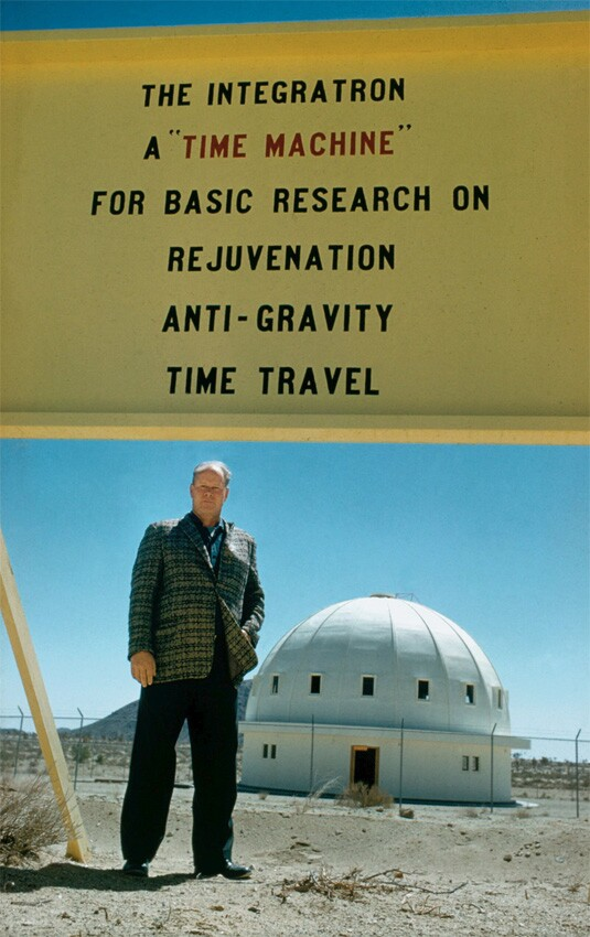 George Van Tassel pictured with his Integratron in Landers, CA. | Daniel Hennessy for LIFE Magazine 1962