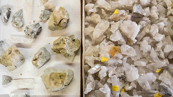 Various gem and mineral specimens for sale at Desert Discoveries. | Photo © Kim Stringfellow.