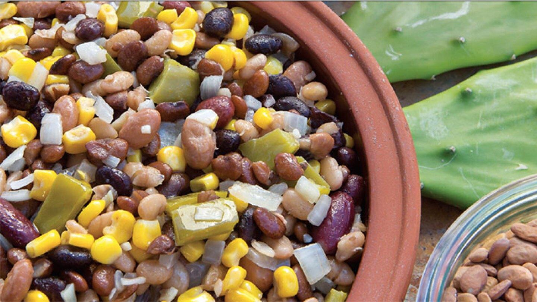 nopales-tepary bean salad