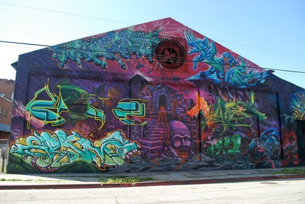 ''Around East Third Street is a major L.A. mural center'' says Prigoff | © Jim Prigoff 2011