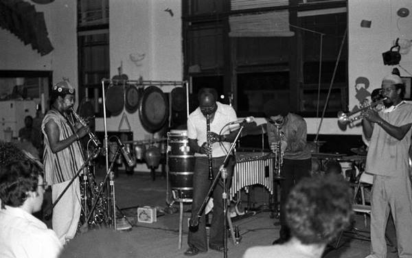 Woodwindist John Carter sits with the Art Ensemble of Chicago on June 26, 1975 at Studio Z, Slauson Blvd. | Mark Weber