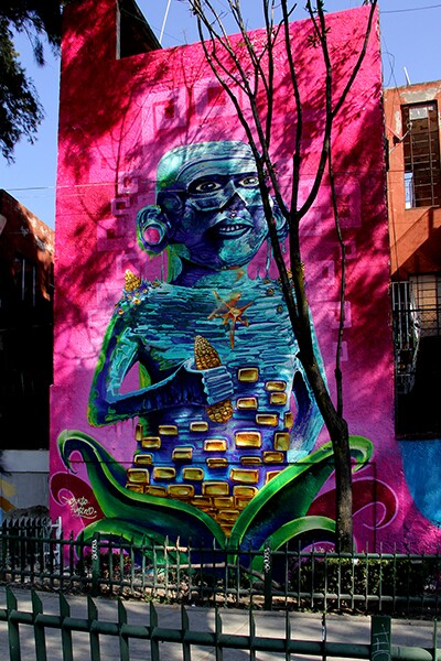 Mural of maiz god | Marlene Vizuet