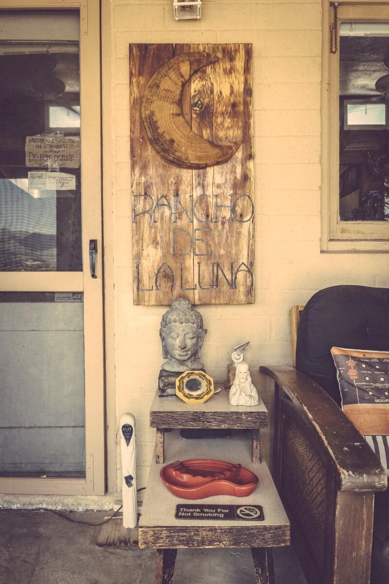 Front door at Rancho de La Luna | Kim Stringfellow