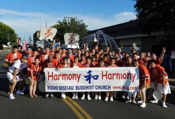 Rissho Kosei-kai participates in the Nisei Week Parade each year | Photo: Rissho Kosei-kai Facebook