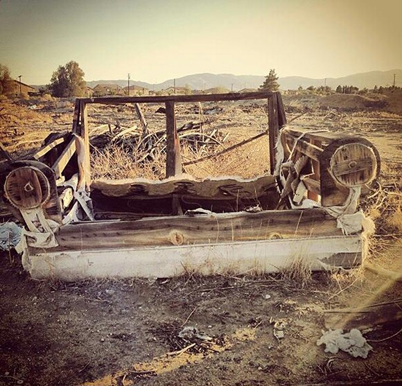 An abandoned couch in the high desert. | Courtesy of DEHSART.