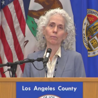 Woman at Podium June 30 COVID19 LA County Update
