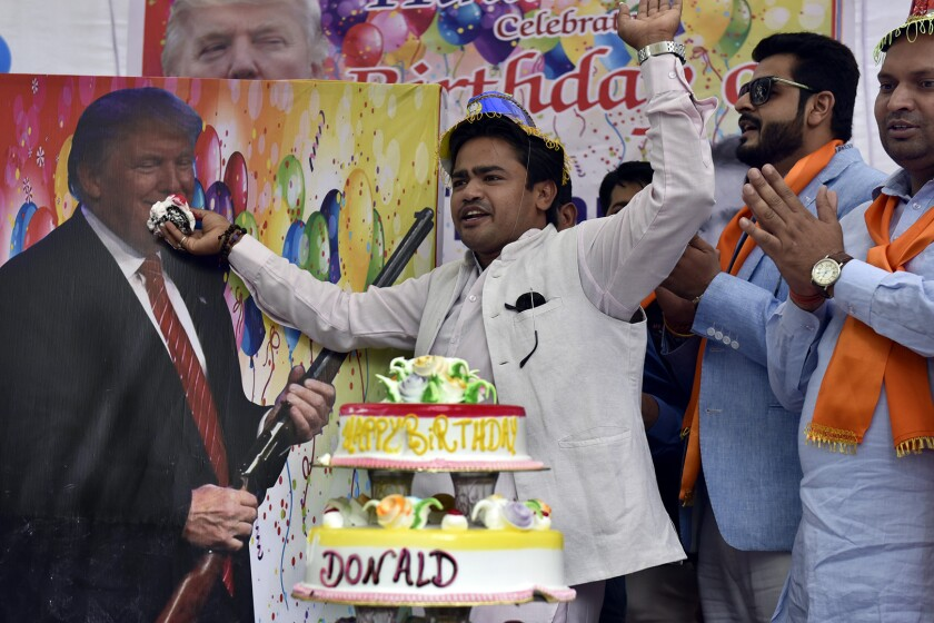 Right-wing Hindu Group Celebrates Donald Trump's Birthday