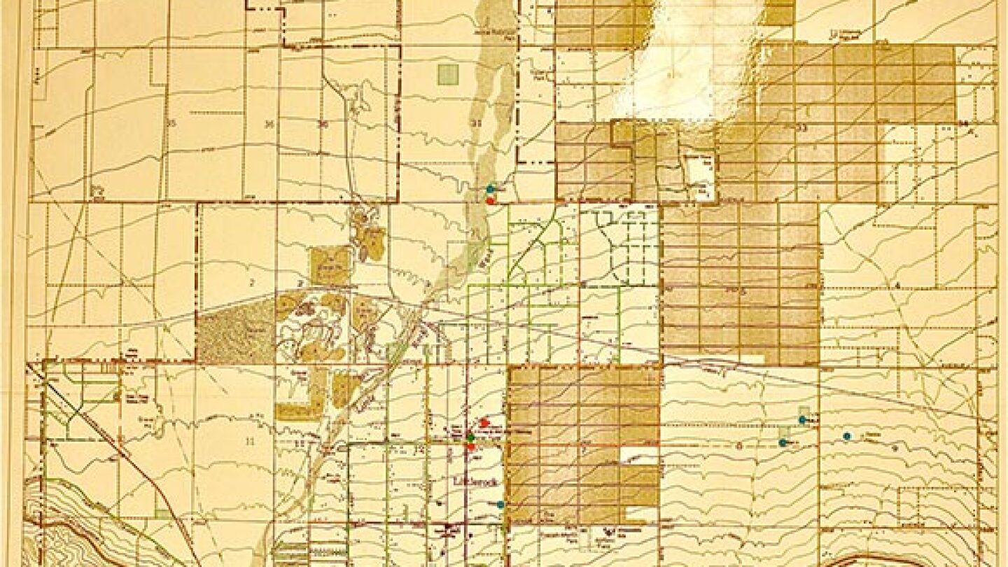 Map of Littlerock and Sun Village