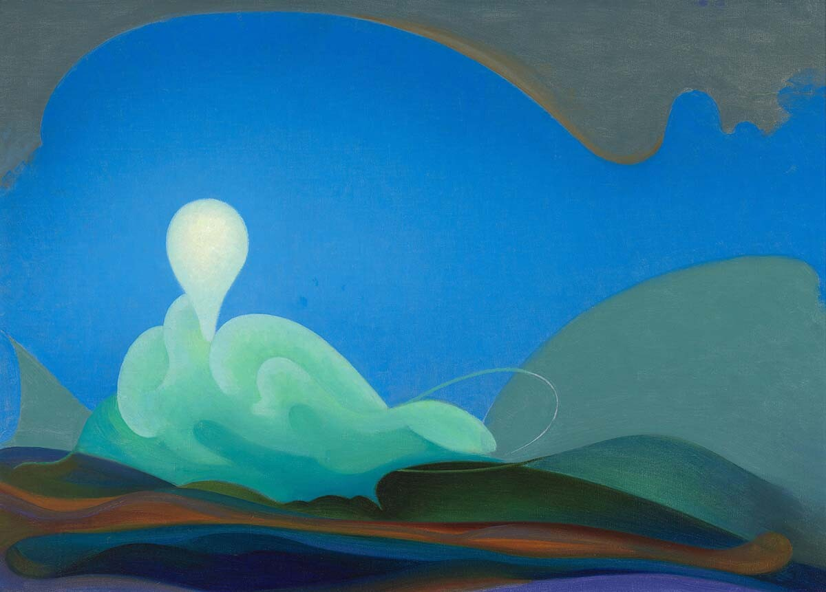 Agnes Pelton: Sea Change (1931, Oil on canvas, 20 x 28 inches) | Collection of the Whitney Museum of American Art, New York; gift of Lois and Irvin Cohen