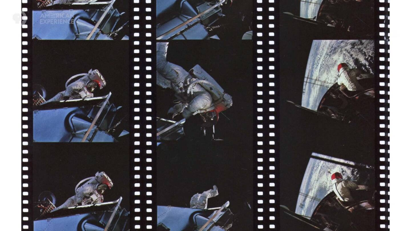 """Film strip of astronauts 