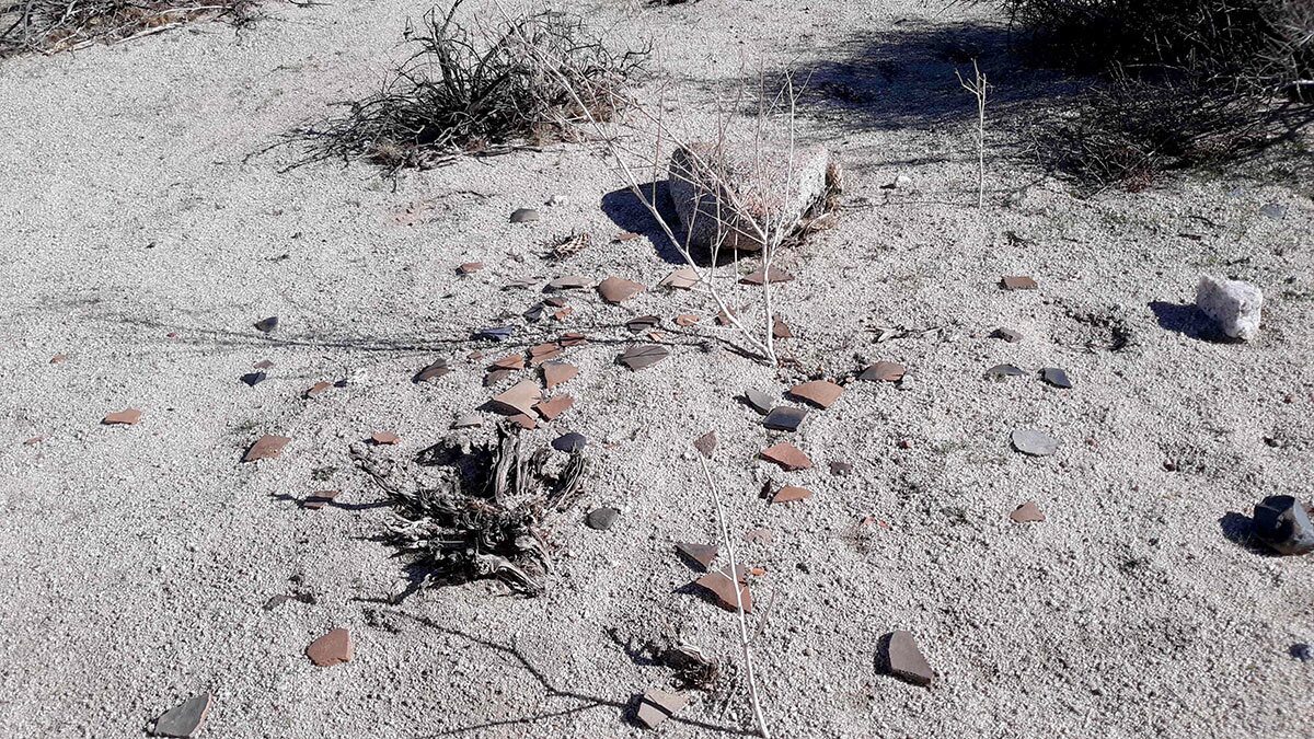 Pottery shards within the Jacumba Wilderness Area | Nick Ervin