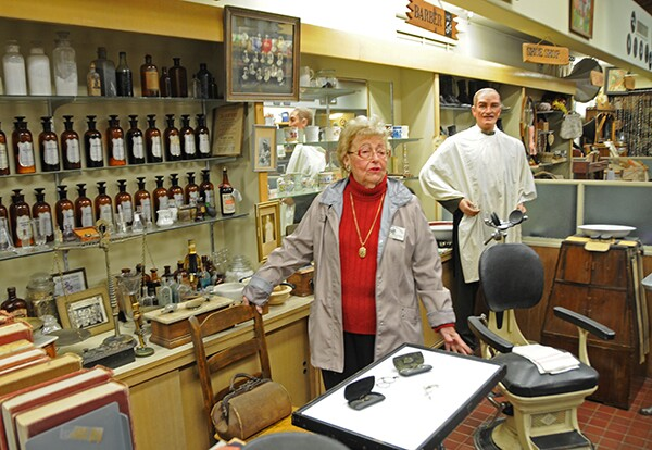 Donna Crippen describes the contents available in the Pharmacy exhibit