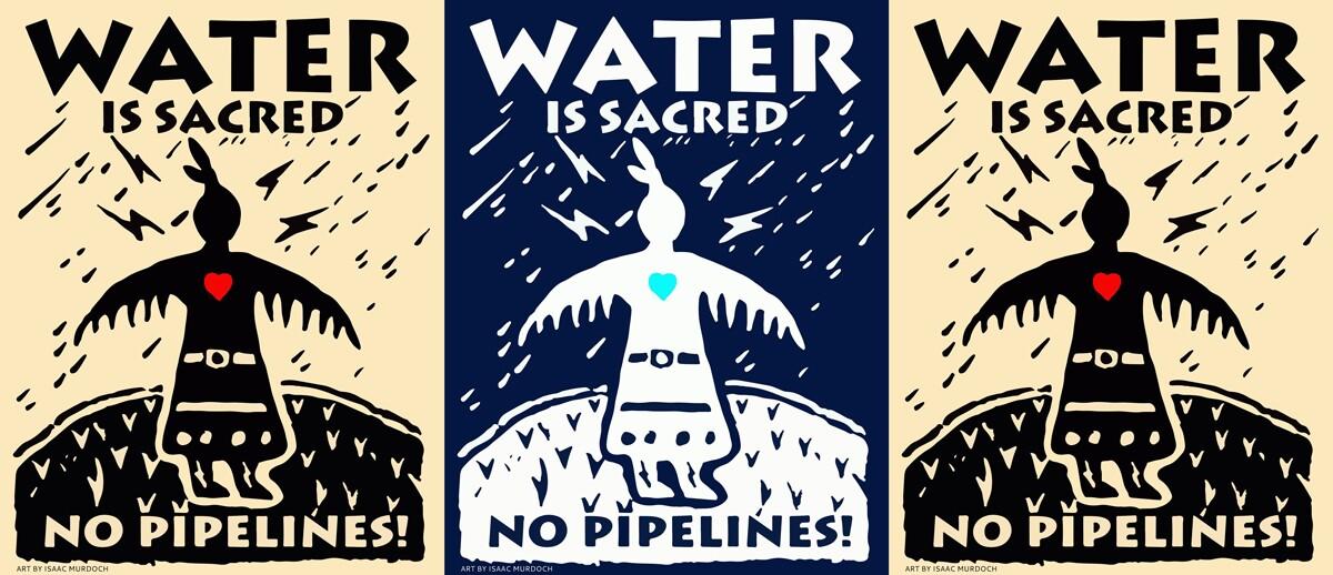 Thunderbird Woman opposes DAPL | Artwork: Isaac Murdoch
