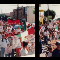 """A rally against Prop 187 