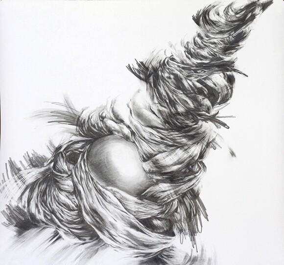 """Virgil_02,"" 51"" x 54"", Graphite on paper (2013"