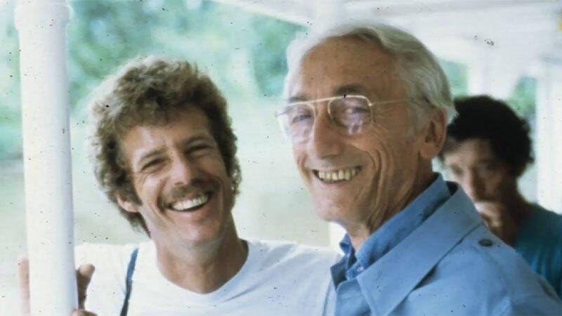 Dustan and Captain Cousteau | Photo: courtesy Phil Dustan