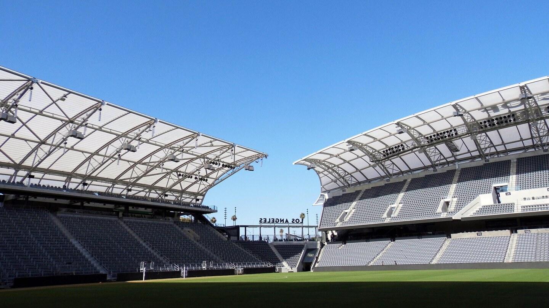 The plastic angel wing-shaped canopy at Banc of California Stadium | Sandi Hemmerlein