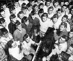 Legion Male Chorus at the Hotel Californian | Image from L.A. Times article dated October 8, 1950