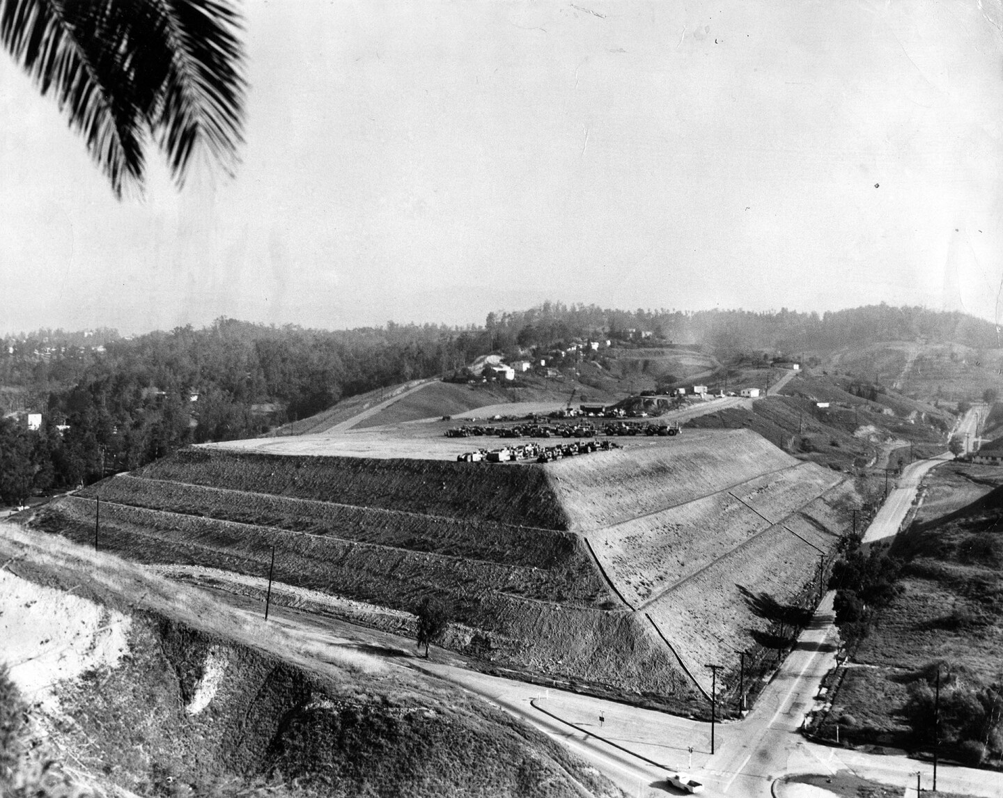 Grading work for Dodger Stadium, 1960. Courtesy of the Photo Collection - Los Angeles Public Library.