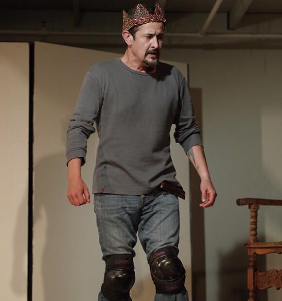 Luis Galindo as Macbeth, workshops at Independent Studio, May 2013 | Photo by Doug Ellison.