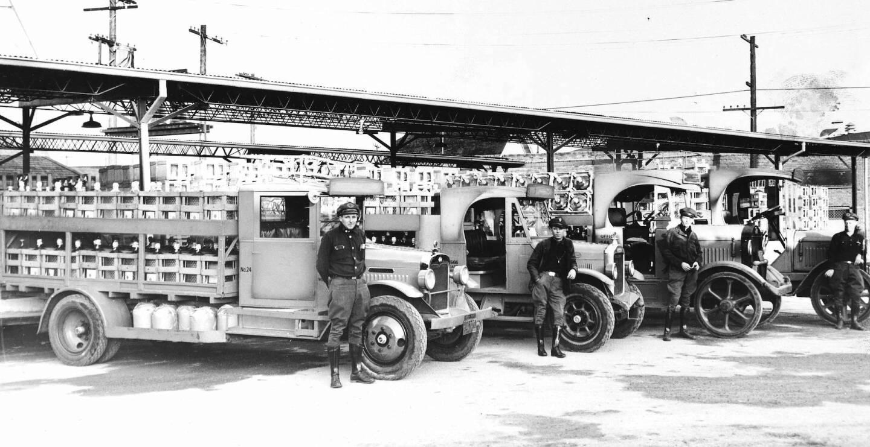 Arrowhead delivery trucks