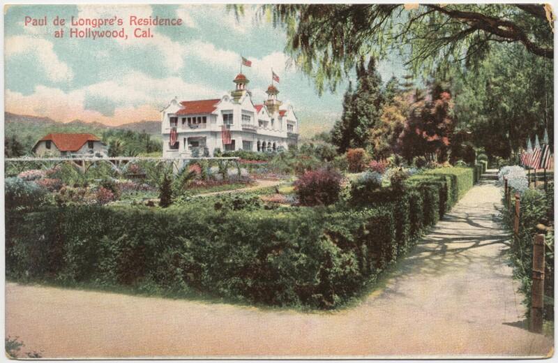 Paul de Longpre's residence in Hollywood, circa 1900