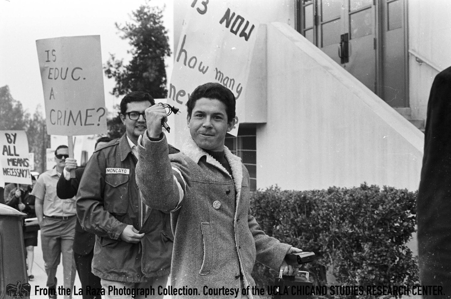 """CSRC_LaRaza_B1F3C5_Staff_018 """"Shorty"""" from Jardin 13 in Pico Rivera attends the Roosevelt High School walkout  