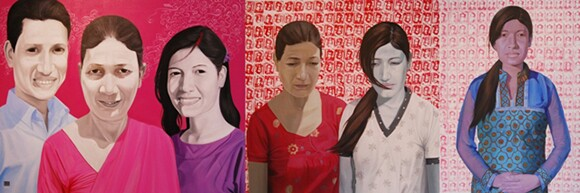 """""""Return Him Back Dead Or Alive"""" by Hit Man Gurung, acrylic on canvas, 2011.   Courtesy of the artist."""