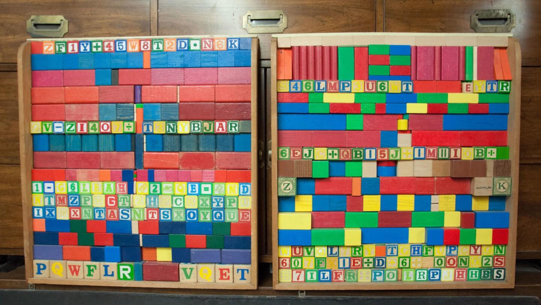 Children's block collage. Photo by Kenya Davis-Hayes