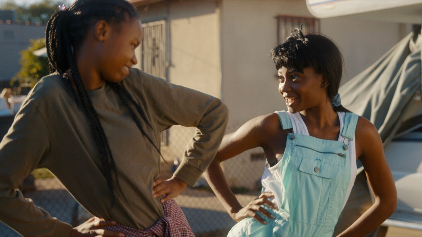 "Two young African American girls | Still from ""The Dope Years"" Fine Cut S21"