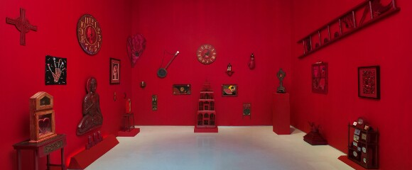 "[Click to enlarge] Installation view, ""Betye Saar: Red Time,"" September 10 - December 17, 2011, Roberts & Tilton, Culver City, California. 