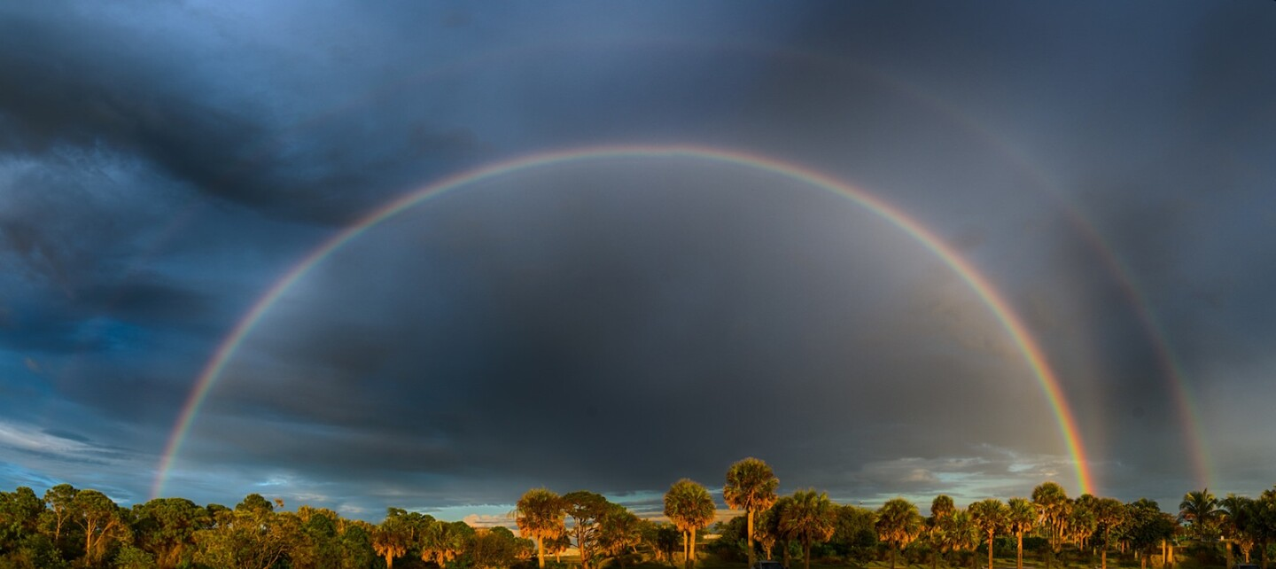 Double rainbow by Don Miller