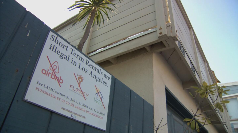 Anti Short Term Rental Signs in L.A.
