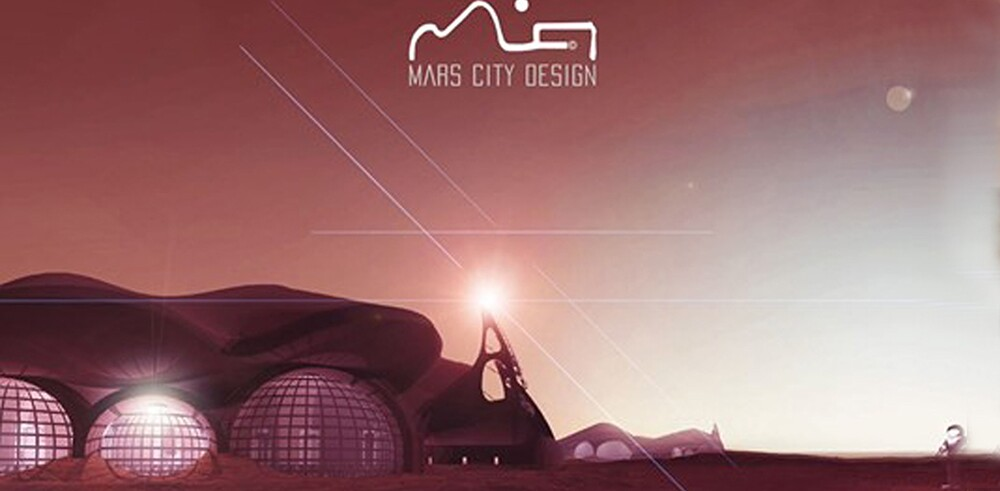 Matt Jennings' project created the architecture for the first permanent structure on Mars.    Courtesy of Mars City Design