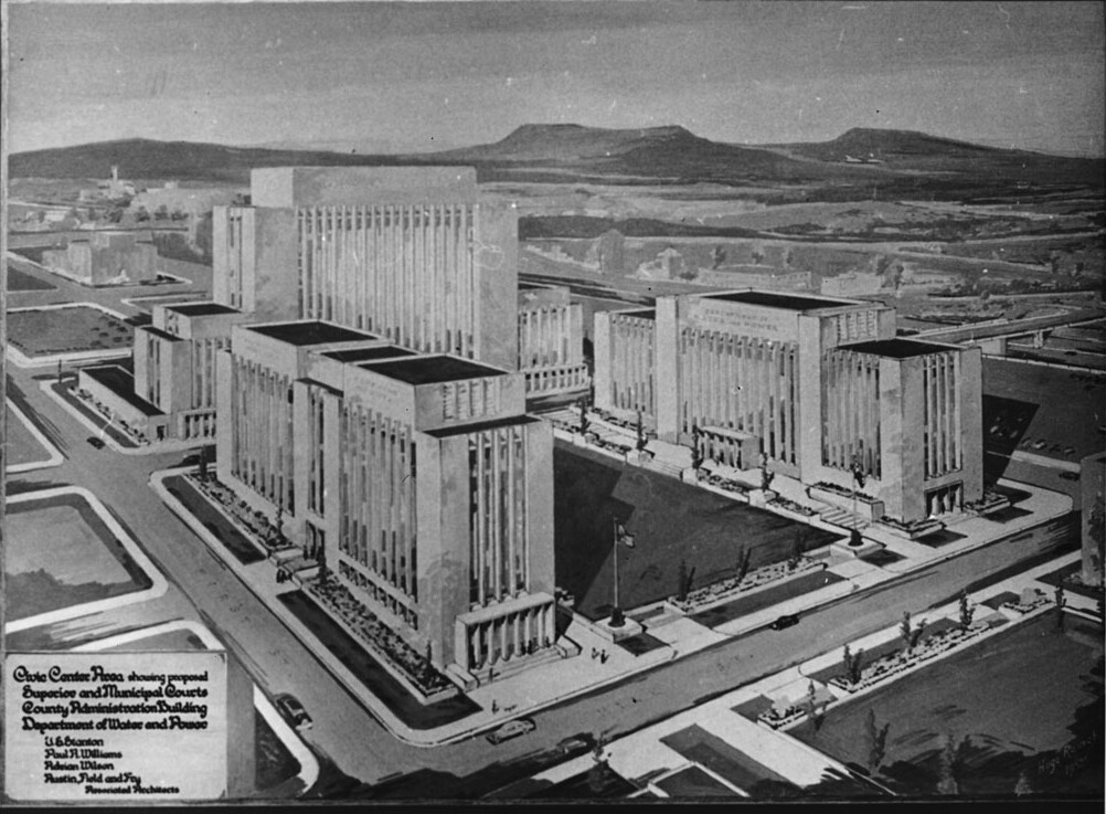 """Civic Center plan by """"architectural dream team"""""""